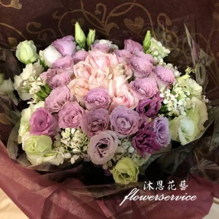 K121桔梗花束情人節生日花束代客送花