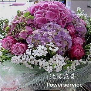 台北花店士林區花店沐恩花藝情人節花束繡球花束生日花束