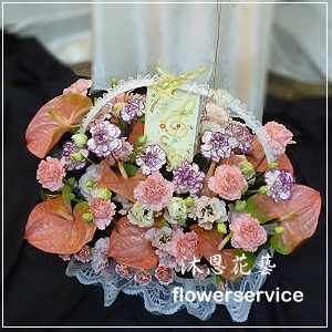 M013台北花店沐恩花藝祝賀盆花喜慶盆花