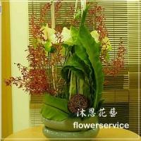 台北花店沐恩花藝祝賀盆花喜慶盆花