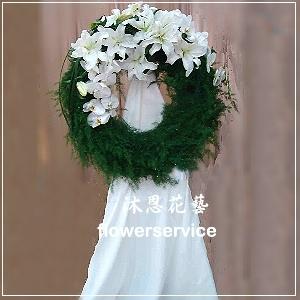 N016台北士林區花店沐恩花藝藝術花籃告別式花籃西式花圈