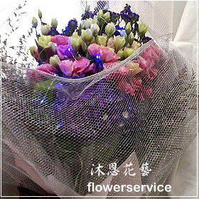 K028台北花店士林區花店沐恩花藝情人節花束玫瑰桔梗花束