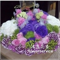 M018愛心滿滿母親節花束
