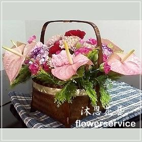 M022愛心滿滿母親節盆花