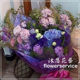 K037愛心滿滿紫色情懷母親節花束