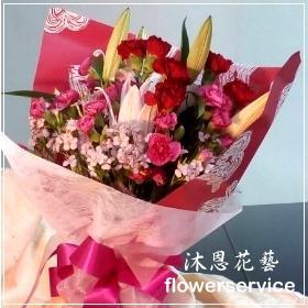 K036愛心滿滿母親節花束