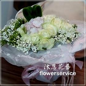 K039台北花店士林區花店沐恩花藝玫瑰花束