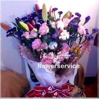 K043台北花店士林區花店沐恩花藝傳情花束