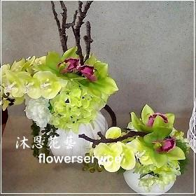 M040台北花店沐恩花藝祝賀盆花喜慶盆花