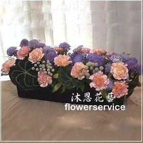 M046愛心滿滿母親節盆花精緻盆花