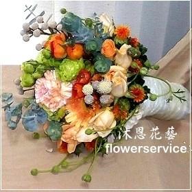 B005新娘捧花-北花店士林區花店沐恩花藝