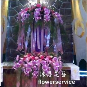 M048教會會場佈置講台花