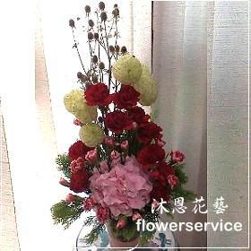 M050台北花店沐恩花藝祝賀盆花喜慶盆花