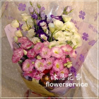 K057畢業季花束桔梗花束生日花束