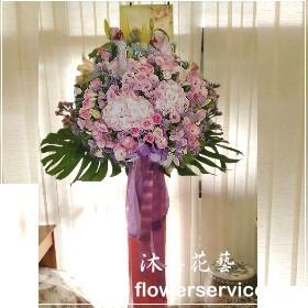 N023台北士林區花店沐恩花藝藝術花籃喜慶花籃高架花籃(一個)