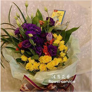 K069玫瑰桔梗花束情人節花束生日特殊節日花束