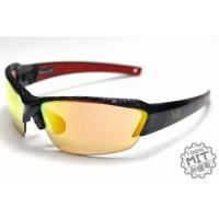 AD科技多層彩銥變色鏡片碳纖紋運動眼鏡~白天到夜晚一付搞定~全方位保護眼睛-型號:CarbonArte