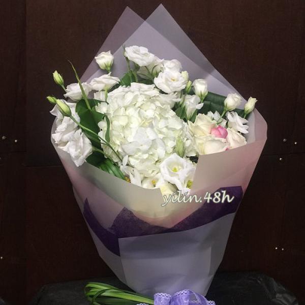 A169純純的愛情節花束繡球桔梗花束
