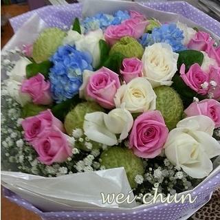 幸福滿載傳情花束新竹韋全花店