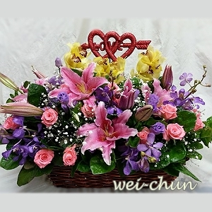 C092精緻盆花韋全花店新竹花店
