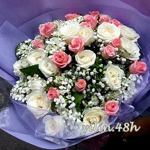 A130雙色玫瑰花束情人節花禮生日花束逸林竹北花店新竹花店