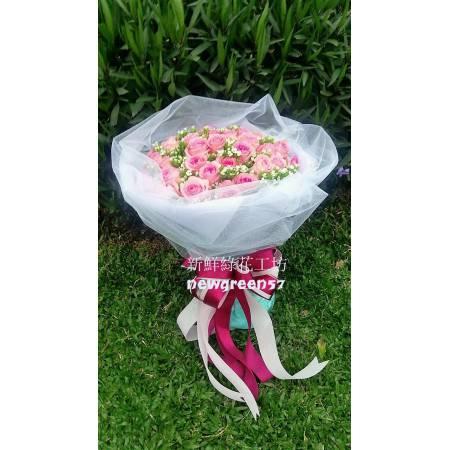 A018玫瑰花束浪漫花束
