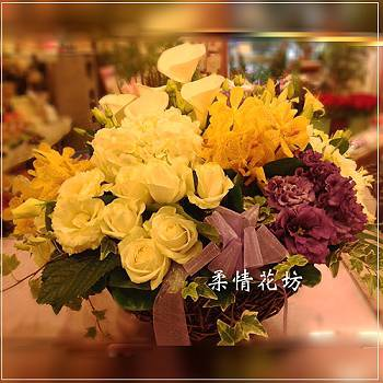 B004會場佈置精緻盆花慶祝榮陞、開幕喬遷