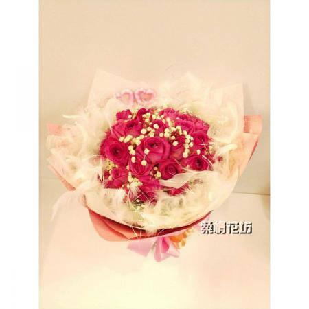 A048甜心玫瑰求婚花束情人節花束生日花束