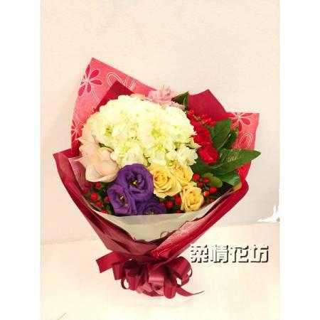 love22傳情花束繡球花束