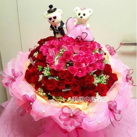 A015我是真的愛你玫瑰大型花束求婚花束情人節花束