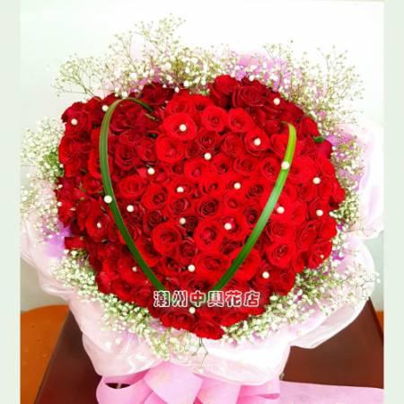 A016永恆的愛大型紅玫瑰花束求婚花束