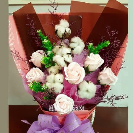 B002對你越愛越深時尚香皂花屏東潮州代客送花