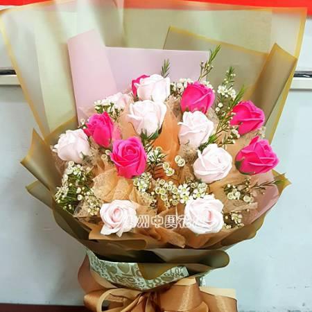 B005一路上有你真好時尚香皂花屏東潮州代客送花