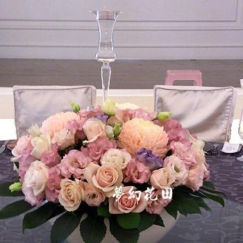 J004宴會餐桌盆花