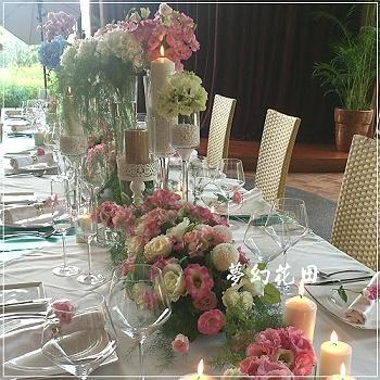 J009宴會餐桌盆花
