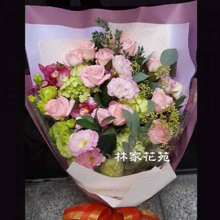 A011無盡的愛玫瑰桔梗花束演奏會花束生日節日花束