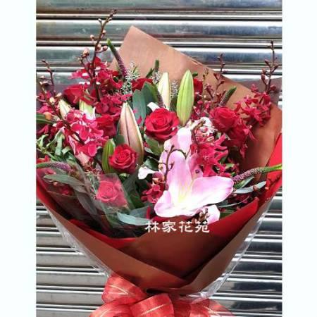 A013命中注定情人節花束生日花束傳情花束