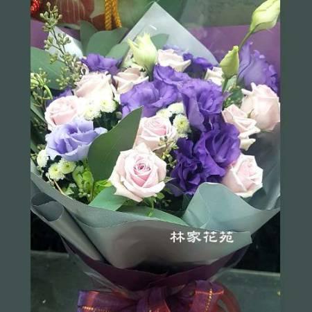 A014甜蜜的幸福傳情花束情人節花束