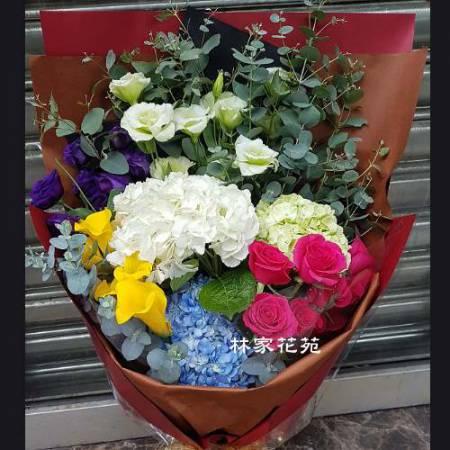 A026滿滿的愛傳情花束情人節演唱會花束