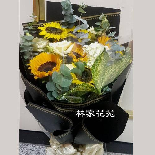 A037向日癸花束畢業花束特殊節日花束