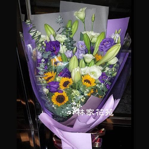 A039大型傳情花束向日癸百合花束演唱會花束