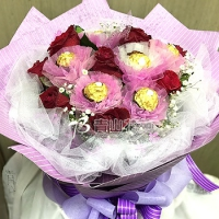 A006金莎玫瑰花束情人節生日特殊節日花束