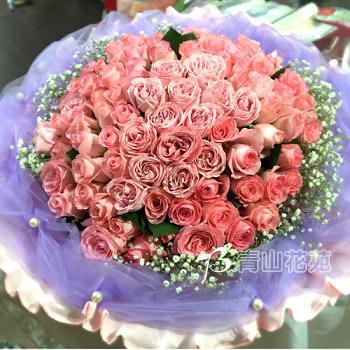 B001玫瑰大型花束情人節花束求婚花束