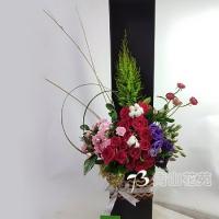 C001祝賀喜慶盆花會場佈置開幕榮陞賀禮桌上盆花
