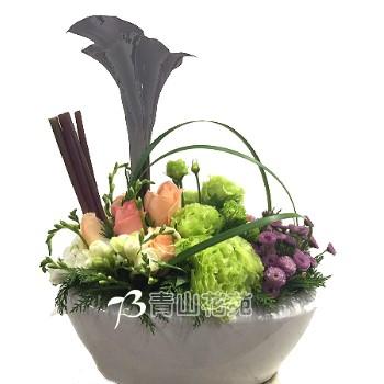 C009時尚喜慶盆花會場佈置開幕榮陞賀禮桌上盆花