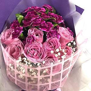 A018滿滿的愛傳情花束母親節花禮