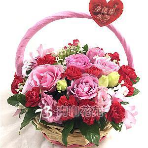 C013康乃馨花藍母親節花籃