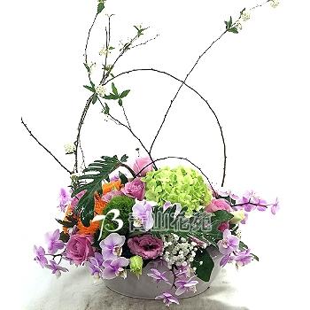 C016祝賀喜慶盆花會場佈置開幕榮陞賀禮桌上盆花