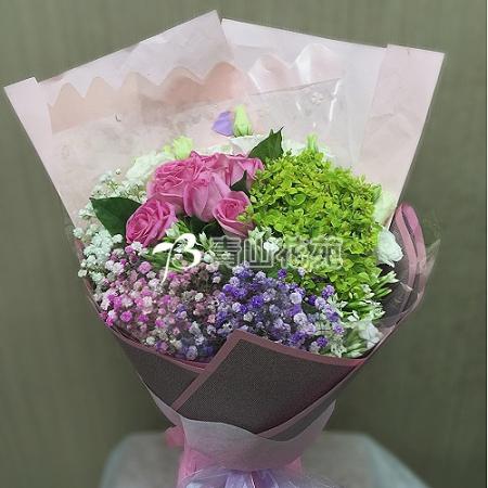 A023時尚花束情人節花束滿天星花束