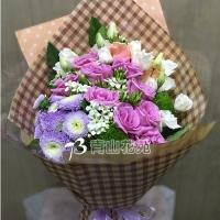 A027玫瑰桔梗花束情人節浪漫花束